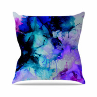 "Claire Day ""Lakia"" Blue Purple Throw Pillow"