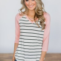 One Call Away Striped Top