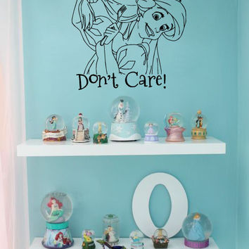 Inspired by The Little Mermaid Wall Decal Sticker Dinglehopper Hair Don't Care
