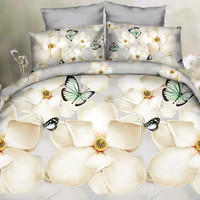 On Sale Hot Deal Bedroom Animal Hot Sale Butterfly Peacock Bedding Set [9393094668]