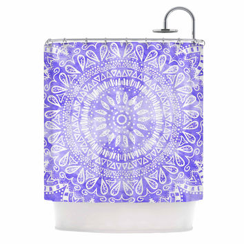 "Nika Martinez ""Boho Flower Mandala in Purple"" Lavender Shower Curtain"