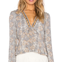 Free People Time of Your Life Top in Ivory Combo