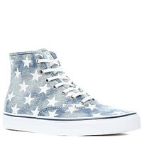 Vans Footwear The Authentic Hi Sneaker in Blue Washed Denim and Stars : Karmaloop.com - Global Concrete Culture