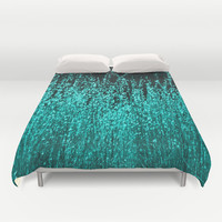 Grasses Aqua 2 Duvet Cover by Veronica Ventress