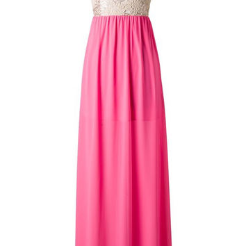 Subtle Sparkle Maxi Dress - Neon Pink