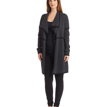 Eileen Fisher Cashmere Drape Front Cardigan