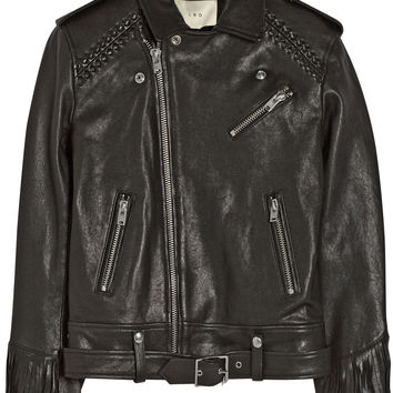 IRO - Zerignola fringed leather jacket