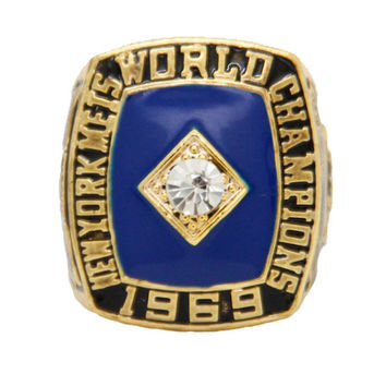 1969 NY new york  Mets World Series Championship Rings men fashion zinc alloy jewelry best gift