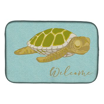 Sea Turtle Welcome Dish Drying Mat BB8562DDM