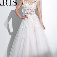 Long Ivory Ball Gown by Tony Bowls