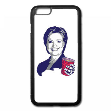 Hillary Clinton Celebrating 4th Of July iPhone 6/6s Plus Rubber Case