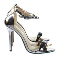 Passion86 By Forever Classic Open Toe High Heel Sandal w Ankle Strap