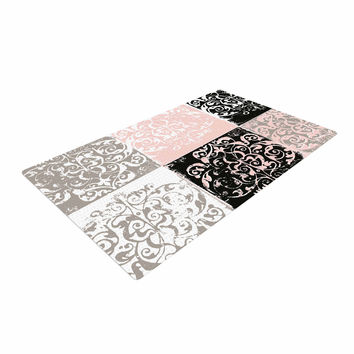 "Chickaprint ""Damaskmix"" Pink Gray Woven Area Rug"