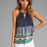 Line & Dot Key Hole Top in Nautical Yacht Club from REVOLVEclothing.com