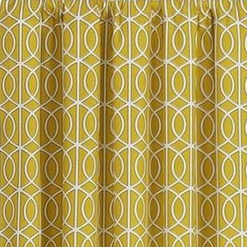 4 panels Crate & Barrel yellow curtains