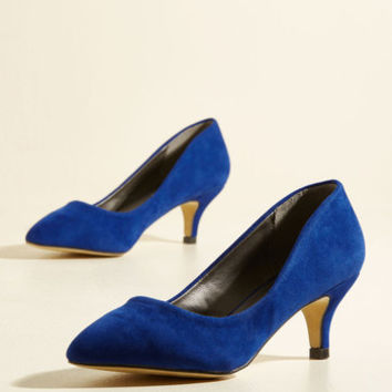 Luxe of the Issue Heel in Cobalt | Mod Retro Vintage Heels | ModCloth.com
