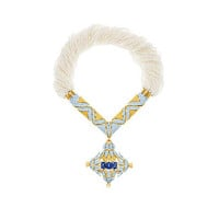 Tiffany & Co. - Necklace in 18k gold and platinum with sapphires, pearls and diamonds.