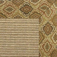 Bone Sisal Rug with Earth Tapestry Border