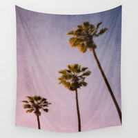 Pink Palms Art Print by The Dreamery