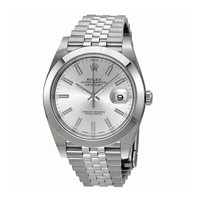 Rolex Datejust Silver Dial Automatic Mens Jubilee Watch 126300SSJ