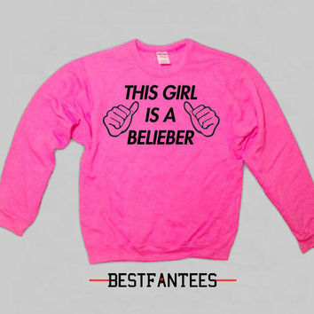 This Girl Loves One Direction Light Pink Crewneck Sweatshirt 1d 017