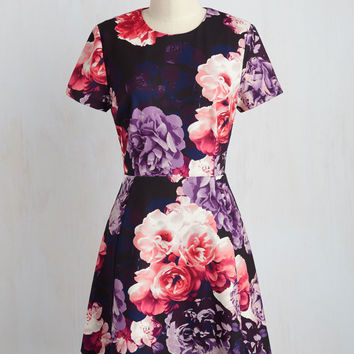 Wine Tasting Tour Floral Dress | Mod Retro Vintage Dresses | ModCloth.com