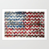 American Chevrons Flag. Art Print by Emiliano Morciano (Ateyo)
