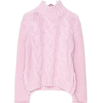 Cherry Blossom Wool Knit Sweater