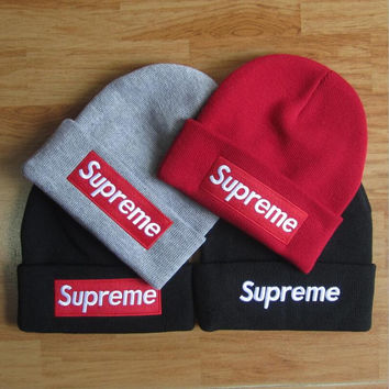 Cool Comfortable Soft Supreme Knit Hat Beanies Great Gifts