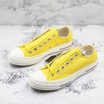 Converse Chuck Taylor All Star 1970s Low Top Heritage Yellow Canvas Sneakers - Best Deal Online