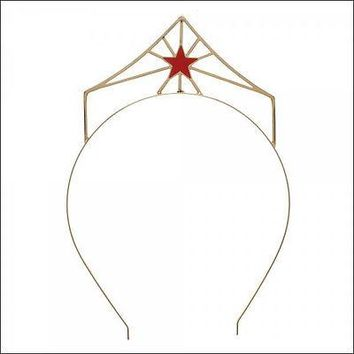 Wonder Woman Crown Red Star Metal Headband Hat Cap Tiara Costume Cosplay NEW