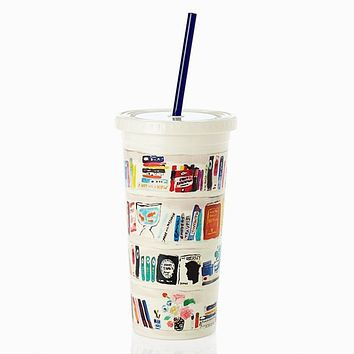 Insulated Tumbler in Bella Bookshelf by Kate Spade New York