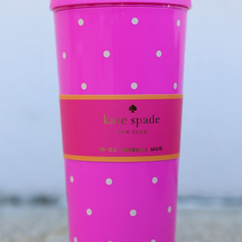 Kate Spade New York Thermal Mug 20 0z - Larabee Dot Pink