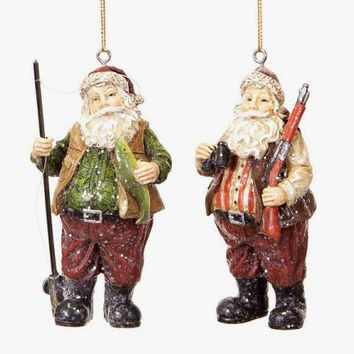 8 Christmas Ornaments - Hunting Santa Claus