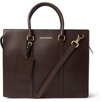 PRODUCT - Burberry Shoes & Accessories - Structured Leather Briefcase - 399466 | MR PORTER