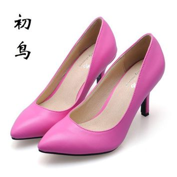 2017 Multicolor Selection Fashion Women's 7.5 cm High Heels Women Pumps Sexy Bride Par