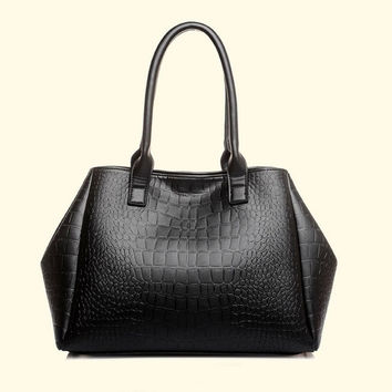 Fashion Crocodile Handbag PU Leather Bag Women Handbag Crossbody Bag Handbag Messenger Bag rse Wallet 5 PCS = 1932884228