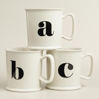 Monogram Porcelain Mug Collection
