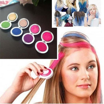 4PCS/Set Hair Chalk Powder Dye Soft Pastels Salon Hair Color Crayons Fashion Christmas DIY Temporary Wash-Out