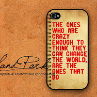 Steve Jobs Crazy Note Design  iPhone 4 Case, iPhone 4s Case, iPhone Case, iPhone hard Case