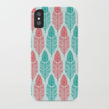 Peacock feathers iPhone Case by Knm Designs