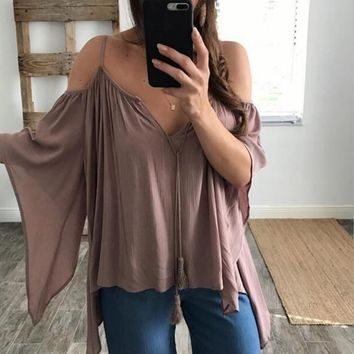 Fashion sexy straps off shoulder irregular loose top