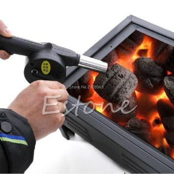 ONETOW Hand Crank BBQ Blower Fireplace Camping Bellows Grill Fire Starter Flame Exciter H06