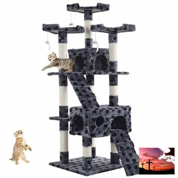 "66""/170cm Cat Tree Tower Condo-FREE SHIPPING!!!! U.S ONLY"