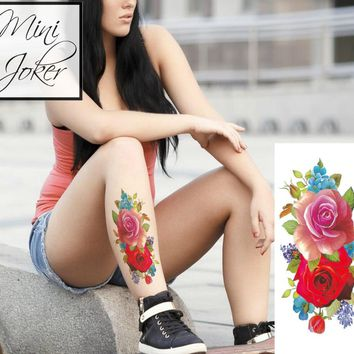 Mini Joker | Awesome Tattoos Roses Temporary Tattoo