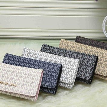 MK 2017 Pure elegant leather printing wallet purse bag [52695203852]