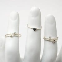 catbird :: shop by category :: Jewelry :: Rings :: Alphabet Rings - Silver