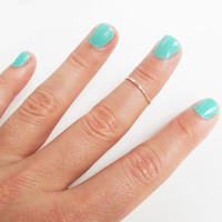One Thin Sterling Silver Knuckle Rings - Stackable