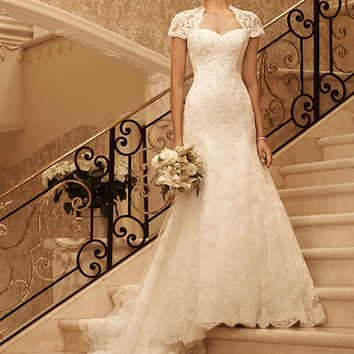 Casablanca Bridal 2102 Beaded Lace Fit & Flare Wedding Dress