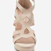 Ella 15 Cutout Multi Strap Wedge